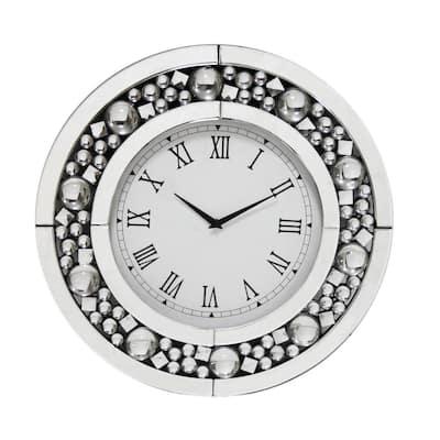 Tavish Silver Wall Clock