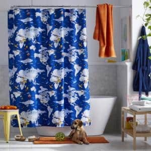Company Kids Around The World 72 in. Multicolored Shower Curtain