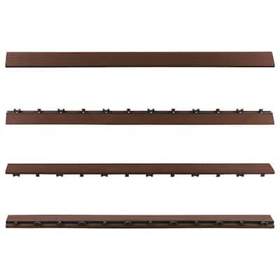 1/6 ft. x 3 ft. Quick Deck Composite Deck Tile Straight Fascia in Brazilian Ipe (2-Pieces per Box)