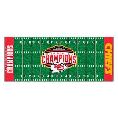 "NFL - Kansas City Chiefs Super Bowl LIV Champions Green 30"" x 72"" Runner Rug"
