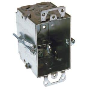 1-Gang Electrical Switch Box with AC/MC/Flex Clamps