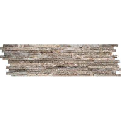 Cream Gold Mini Stacked 6 in. x 24 in. Quartzite Slate Floor and Wall Tile