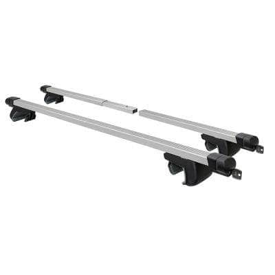 2-Piece Adjustable Roof Top Cross Bar Set, for Use with Existing Raised Side Rails Only