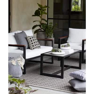 West Park Aluminum Outdoor Patio Coffee Table