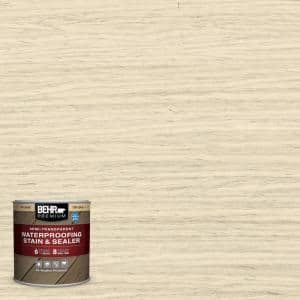 8 oz. #ST-157 Navajo White Semi-Transparent Waterproofing Exterior Wood Stain and Sealer Sample