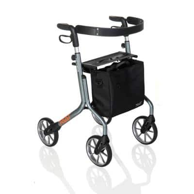 4-Wheels Let's Move Rollator with in Gray