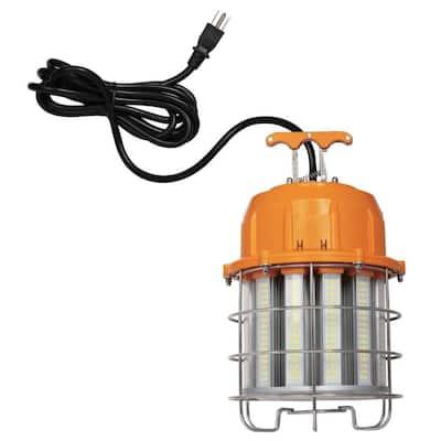 100-Watt Orange and Chrome Integrated High-Lumen LED Plug-In Work Light