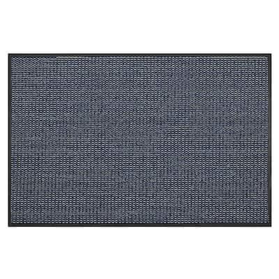 Le Man's Blue Laquer 40 in. x 60 in. Door Mat