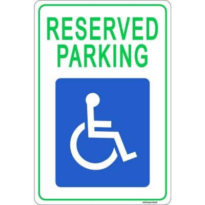 12 in. x 8 in. Plastic Disable Handicapped Parking Sign