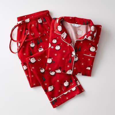 Family Flannel Company Cotton Women's XL Pajama Set in Santa