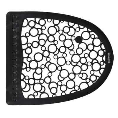 Urinal 2.0 Black/White 17.5 in. x 20 in. Rubber Commercial Floor Mat (6/Carton)