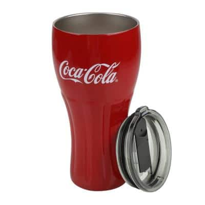 24 oz. Red Stainless Steel Genuine Curve Vacuum Insulated Tumbler