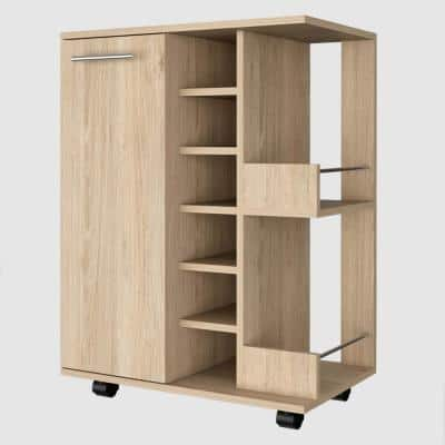 Lindon Bar Cabinet in Oak
