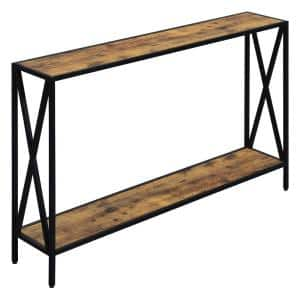 Tucson 48 in. Barnwood/Black Rectangle Console Table