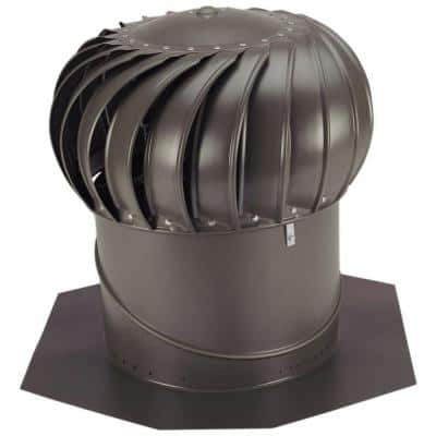 14 in. Weathered Bronze Aluminum Internally Braced Whirlybird Wind Turbine