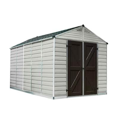 SkyLight 8 ft. x 12 ft. Tan Storage Shed