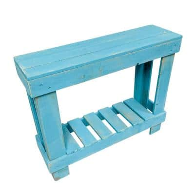 36 in. Turquoise Standard Rectangle Wood Console Table with Storage