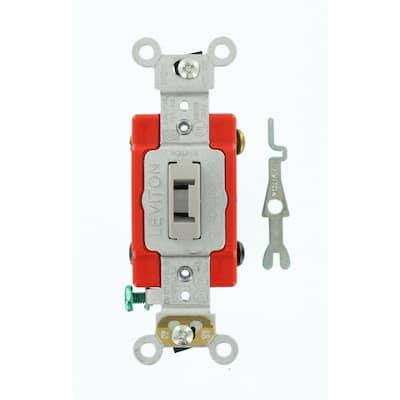 20 Amp Industrial Grade Heavy Duty 4-Way Locking Switch, Gray