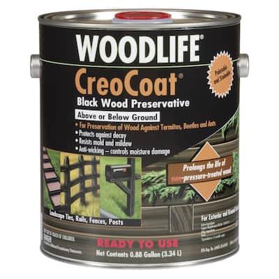 0.88 Gal. CreoCoat Black Water-Based Exterior Wood Preservative (4-Pack)