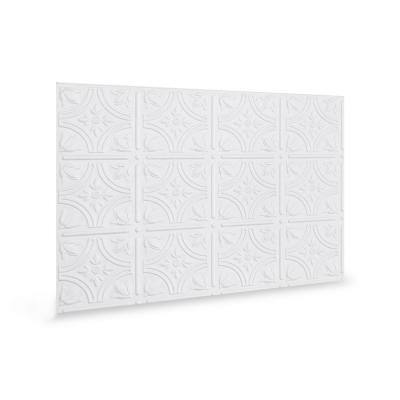 18.5 in. H x 24.3 in. L Empire Decorative 3D PVC Backsplash Panels in White 12-Pieces