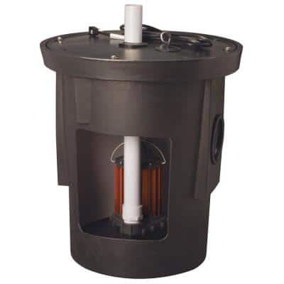 SPAC-Series 1/3 HP Submersible Assembled Sump Pump Package