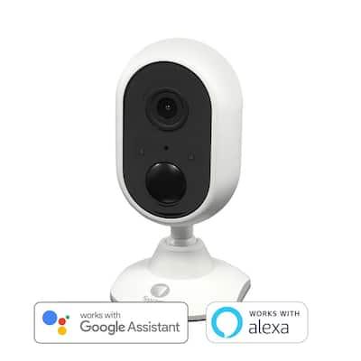WiFi 1080p Indoor Bullet Security Surveillance Camera with Built in Siren