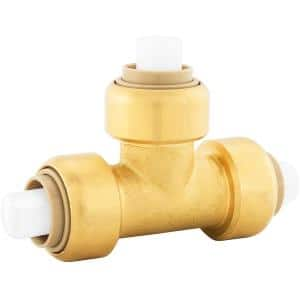 PlumBite 1/2 in. Push-to-Connect Brass Tee Fitting