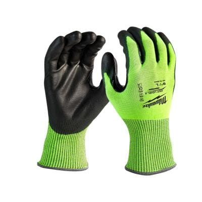 X-Large High Visibility Level 4 Cut Resistant Polyurethane Dipped Work Gloves (12-Pack)
