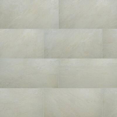 Quartz White 24 in. x 48 in. Matte Porcelain Floor and Wall Tile (14-Pieces / 112 sq. ft. / Pallet)