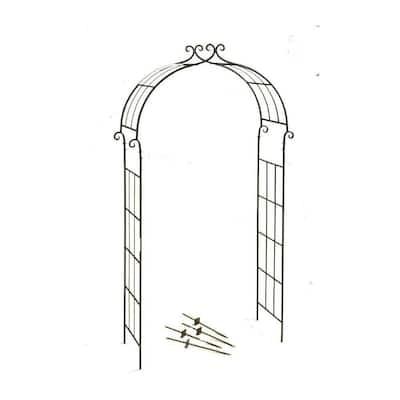 84 in. H x 43 in. W x 15 in. D Candy Cane Arch with Spikes