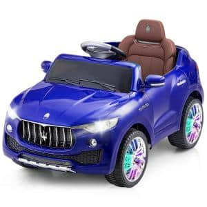 Licensed Maserati 6-Volt Blue Kids Ride On Car RC Remote Control Opening Doors MP3 Swing