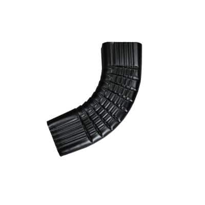 3 in. x 4 in. Black Aluminum Downpipe - B Elbow