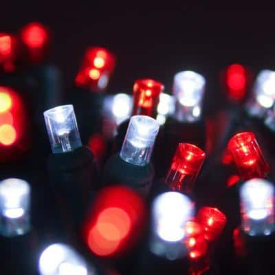 24 ft. 70-Light Red and Cool White 5 mm LED Mini Light Set