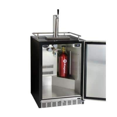 Digital Undercounter Full Size Beer Keg Dispenser with X-CLUSIVE Single Tap Premium Direct Draw Kit and Left Hinge