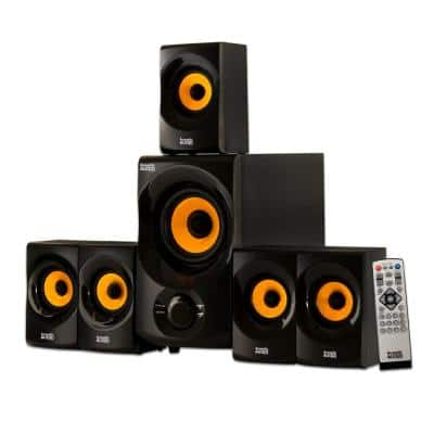 Bluetooth Home Theater 5.1 Speaker System with FM Tuner