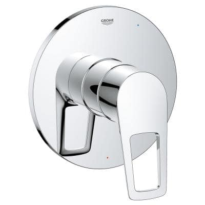 BauLoop 1-Handle Wall Mount Pressure Balance Valve Trim Kit in StarLight Chrome with Cartridge (Valve Not Included)