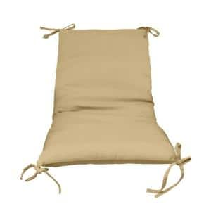Sand Solid 1-Piece Outdoor Sling Chair Cushion (2-Pack)