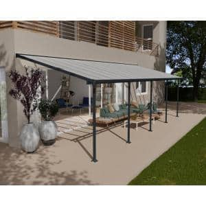 Feria 10 ft. x 30 ft. Gray Patio Cover Awning