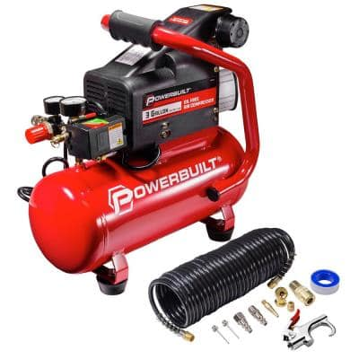 3 Gal. Portable Electric Air Compressor Kit