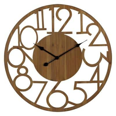 Brady Natural Wood Wall Clock