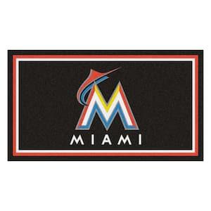 MLB - Miami Marlins 3 ft. x 5 ft. Ultra Plush Area Rug