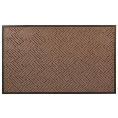Opus Brown 48 in. x 120 in. Rubber-Backed Entrance Mat
