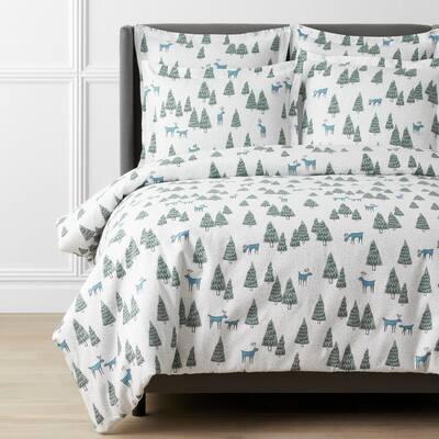 Legends Hotel Winter Woods Velvet Cotton Flannel Pillowcase (Set of 2)