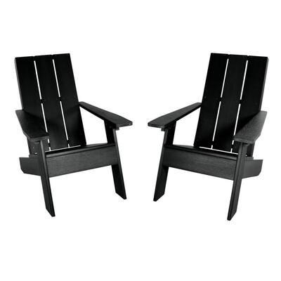 2 Italica Modern Plastic Adirondack Chairs