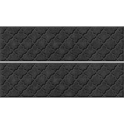 Cordova 8.5 in x 30 in Stair Treads (Set of 4) Charcoal