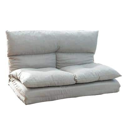 Gray Fabric Futons Folding Sofa Chair Lounge Floor Gaming Sofa Chair