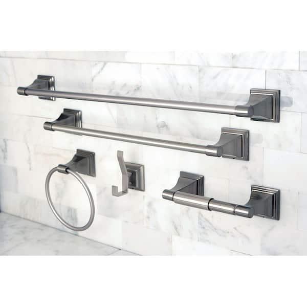 Kingston Brass Monarch 5 Piece Bathroom, Nickel Finish Bathroom Accessories