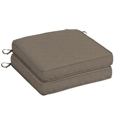 Oak Cliff 20 x 20 Sunbrella Cast Shale Outdoor Chair Cushion (2-Pack)