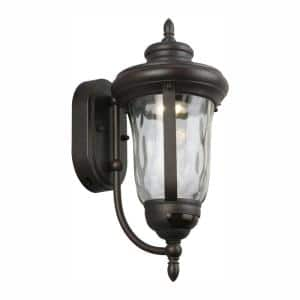 Aldwynne Bronze Motion Sensing LED Outdoor LED Wall Lantern Sconce