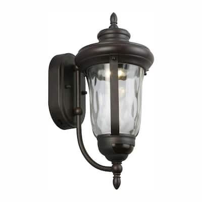 Aldwynne Bronze Motion Sensing LED Outdoor LED Wall Lantern Sconce
